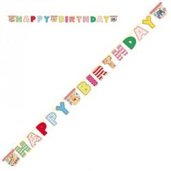 """Guirlande Winnie l'oursons """"HAPPY BIRTHDAY"""" Pour bien annoncer la fête d'anniversaire."""