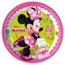 8 Assiettes Minnie 23 cm très jolies. Idéales pour servir les goûters ou la part de gâteau d'anniversaire.