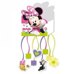 Piñata Minnie en carton imprimé, pour une animation de fête réussie.
