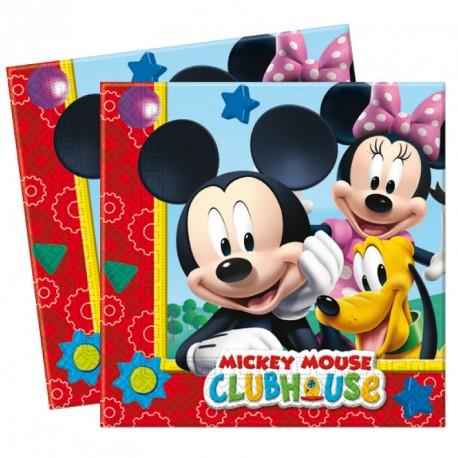 20 Serviettes Mickey 33x33cm 2 plis, très jolies, très résistantes et pratiques.