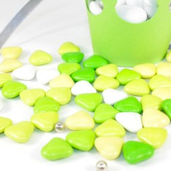 Coeur au chocolat assortiment de vert 500gr