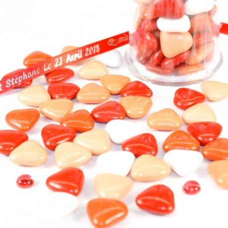Coeur au chocolat assortiment rouge 500gr