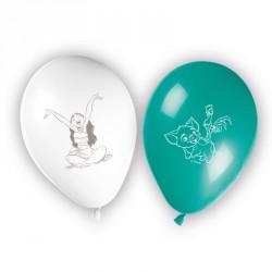 8 Ballons Vaiana facilement gonflable, résistants et très décoratifs.