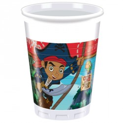 8 Gobelets Jake le Pirate 20cl pour une super décoration de table.