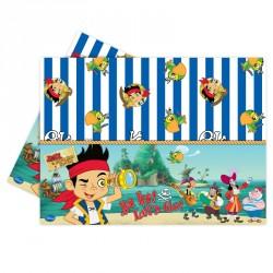Nappe Jake le Pirate 120 x 180 cm en plastique pour que votre table soit décorée avec le héros préféré de votre enfant.