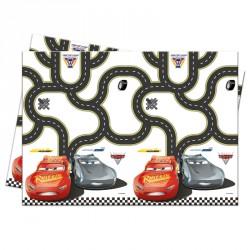 Nappe Cars 120 x 180 cm en plastique pour de belles tables parfaitement décorées Flash Mc Queen.