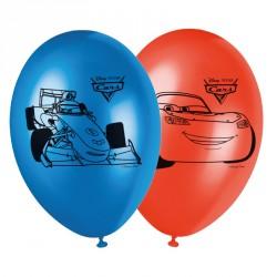 8 Ballons Cars pour une décoration colorée et festive.