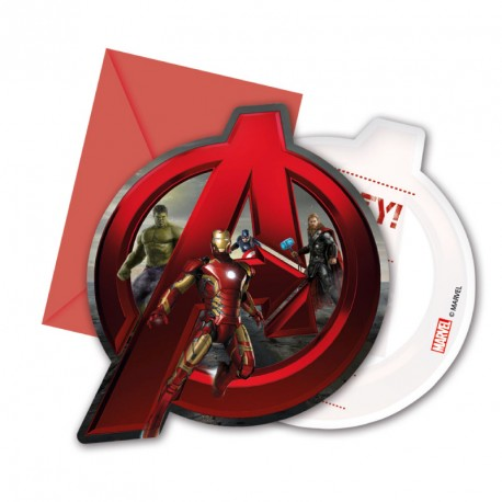 6 Cartes D Invitation Avengers Pour Fetes D Anniversaire Dragees Anahita