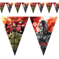 Guirlande Avengers 11 drapeaux pour annoncer la couleur de la fête.