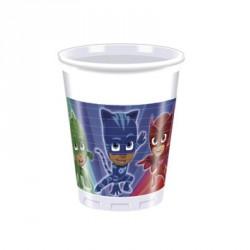 8 Gobelets Pyjamasques 20cl parfaits pour servir de délicieuses boissons rafraîchissantes.