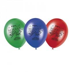 8 Ballons Pyjamasques pour toutes fêtes sur le thème Pyjamasques.