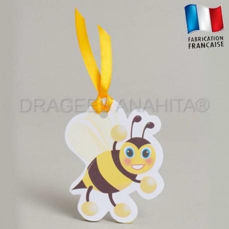 Etiquette à dragées abeille