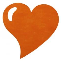 50 Sets de table cœur orange, en tissu non tissé polyester.