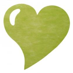 50 Sets de table cœur vert, idéals pour un thème autour de la nature.