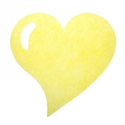 50 Sets de table cœur jaune, en tissu non tissé polyester.