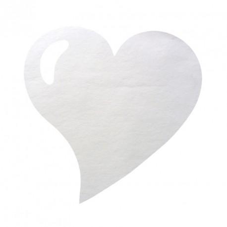 50 Sets de table cœur blanc