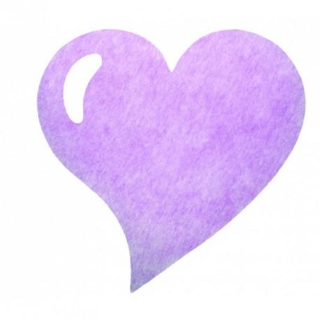 50 Sets de table cœur lilas, en tissu non tissé polyester.
