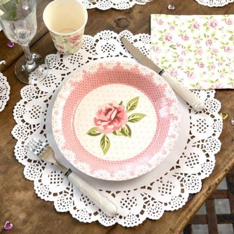 10 Sets de table napperon dentelle blancs vintage chic