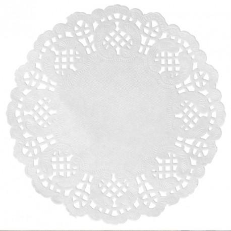 10 napperons dentelle blancs pour décoration de table de mariage