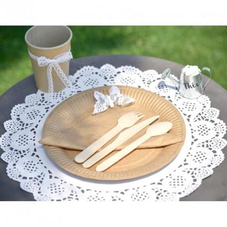 10 Sets de table napperon dentelle blancs