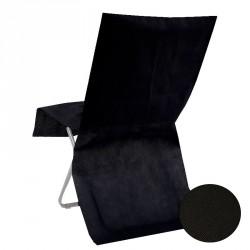 Housse de chaise jetable Noire Opaque pour sublimer votre décoration de salle.