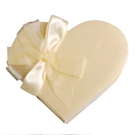 """Livre d'Or """"Coeur"""" de couleur blanc"""