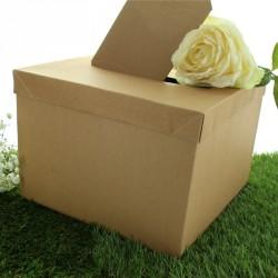 Urne en carton Kraft pas cher. Conseillée pour les thèmes autour de la nature.