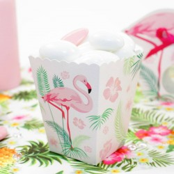 6 boite pop corn Flamant Rose