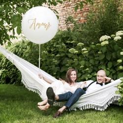 """Ballon Géant 1m """"Amour"""" pour habiller votre espace de réception."""