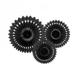3 Guirlandes Rosaces Noir 20-30cm pour apporter un charme baroque ou côté industriel à votre décoration de salle.