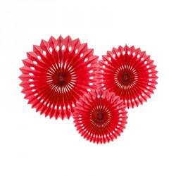 3 Guirlandes Rosaces Rouge 20-30cm pour offrir une touche de couleur forte à votre décoration intérieure ou extérieure.