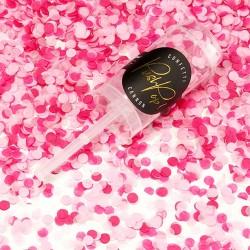 Push Pop confettis Rose et Fuchsia pour créer un moment joyeux plein de pep's.