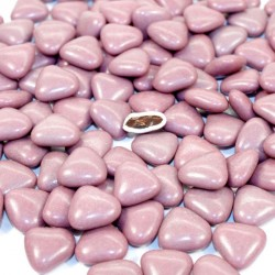 Dragées coeur chocolat prune