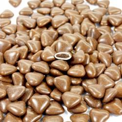 Dragées coeur chocolat marron 1kg