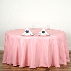 Nappe ronde rose Tissu 300cm haut de gamme