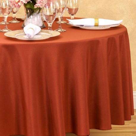Nappe ronde bordeaux Tissu 300cm mariage