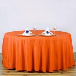 Nappe ronde orange Tissu 300cm haut de gamme