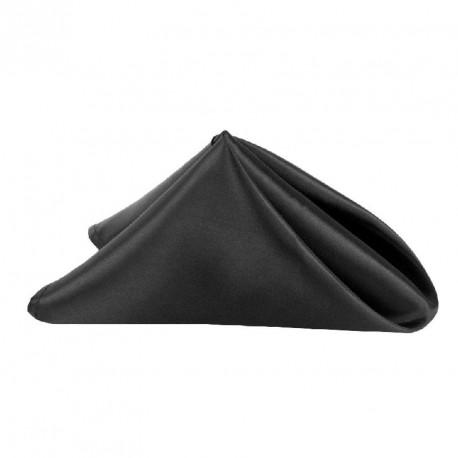 6 serviettes en tissu noire