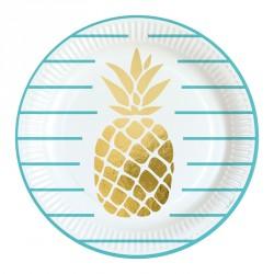 8 Assiettes Ananas 23 cm pour donner à la vaisselle un aspect à la fois original et élégant.