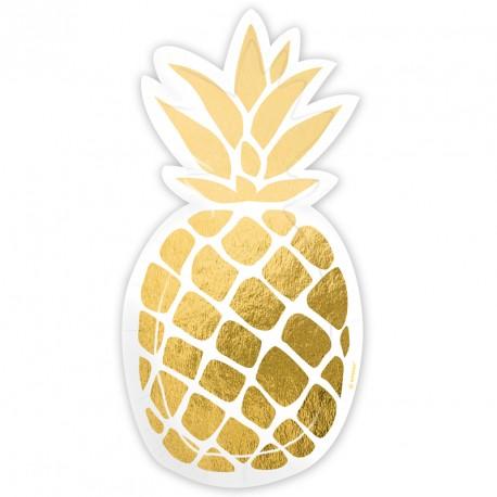 6 Assiettes en forme d'Ananas pour présenter vos pâtisseries et pour servir les repas aux enfants.