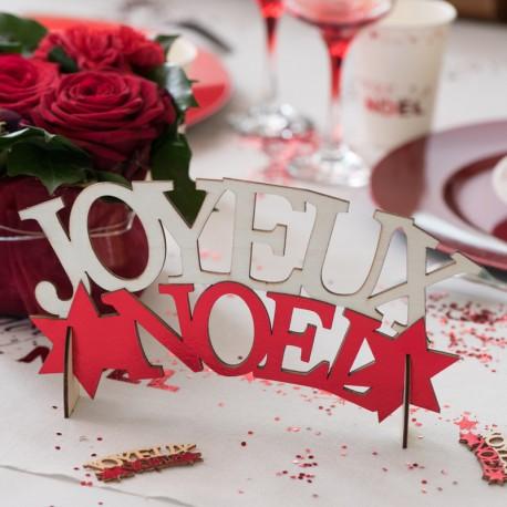 Lettres Joyeux Noël Rouge Décoratives Dragées Anahita