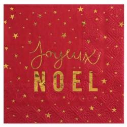 Serviette Joyeux Noël Rouge et Or pour combiner esthétique et praticité.