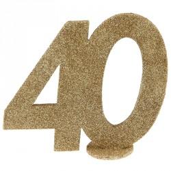 Chiffre Anniversaire 40 Ans pour compléter la décoration de la table de réception.
