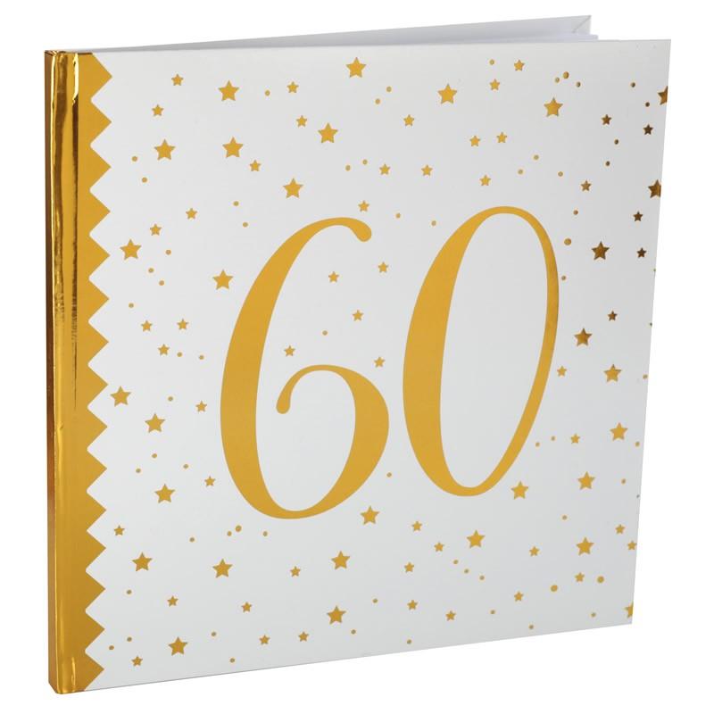 Livre D Or Anniversaire 60 Ans Blanc Et Or Etoile Dragees Anahita