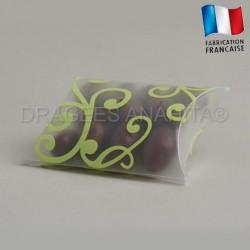 Pochette à dragées arabesque vert