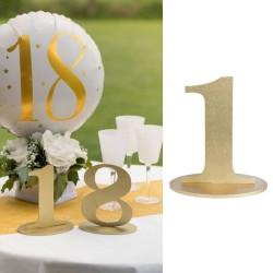 Marque table chiffre 1 Or pour renforcer la décoration de votre table.