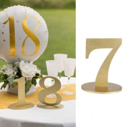 Marque table chiffre 7 Or pour une jolie table bien décorée.