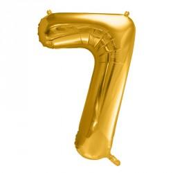 Ballon Chiffre 7 métal Or 35cm