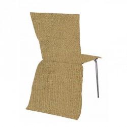 5 Housses de chaise toile de jute
