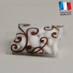 Pochette à dragées arabesque ivoire